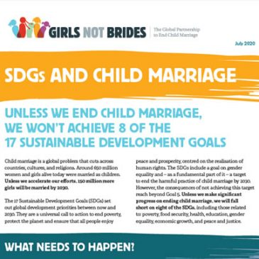 SDG and child marriage July 2020 update.